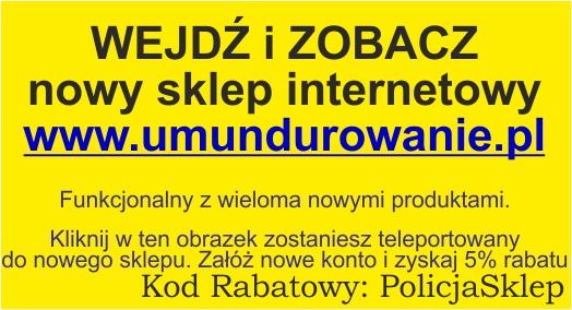 Nowy Sklep internetowy umundurowanie